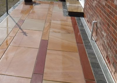 maple paving with drainage