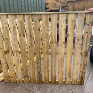 picket timber fence panel
