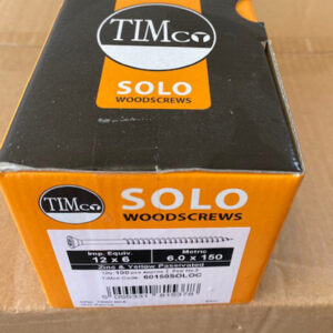 woodscrew solo 12x6 6x150mm 100pcs timco