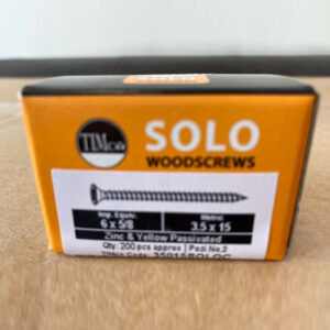 woodscrew solo 6x1 3.5x15mm 200pcs timco
